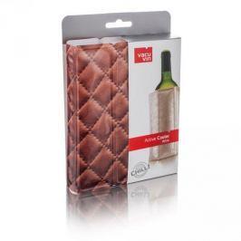 Schładzacz do wina plastikowy VACU VIN COOLER SKÓRA BRĄZOWY