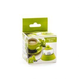 Zaparzacz do herbaty stalowy KULKA ZIELONY