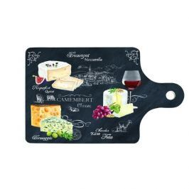 Deska do serwowania serów i przekąsek porcelanowa NUOVA R2S CHEESE CZARNA 27,5 x 18 cm