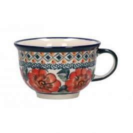 Filiżanka do kawy i herbaty ceramiczna GU-775 DEK. 124 ART. Bolesławiec KREMOWA 220 ml