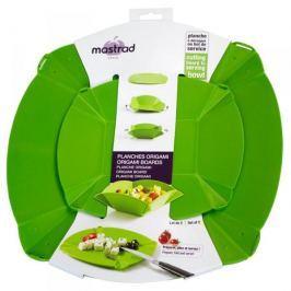 Miski plastikowe składane MASTRAD ORIGAMI ZIELONE 2 szt.