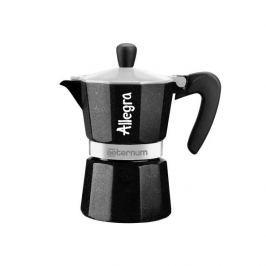 Kawiarka aluminiowa ciśnieniowa BIALETTI AETERNUM ALLEGRA CZARNA - kafetiera na 1 filiżankę espresso