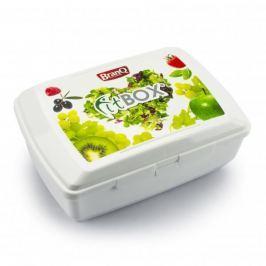 Śniadaniówka / Pojemnik na kanapki dwukomorowy plastikowy BRANQ FIT BOX BIAŁA