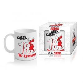 Kubek ceramiczny boss z napisem QBEK 18-TKOWY 300 ml
