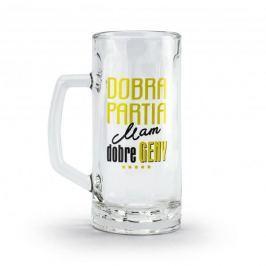Kufel do piwa szklany DOBRA PARTIA MAM DOBRE GENY 500 ml