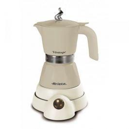 Kawiarka elektryczna aluminiowa ciśnieniowa ARIETE VINTAGE BEŻOWA - kafetiera na 4/2 filiżanki espresso