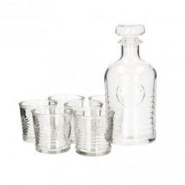 Karafka szklana z 6 szklankami do whisky BORMIOLI ROCCO OFICYNA 1,1 l