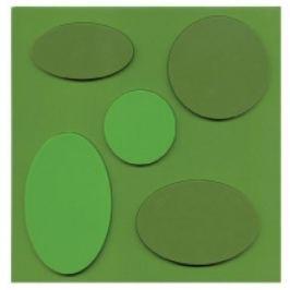 Mata stołowa / Podkładka na stół PVC EUSAMEX GALET ZIELONA 18 x 18 cm