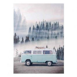 Obraz na płótnie MONDEX BLUE BUS BŁĘKITNY 50 x 70 cm