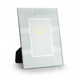 Ramka na zdjęcia szklana DUO SILVER SNAKE SREBRNA 18 x 23 cm