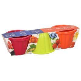 Foremki do galaretek i deserów plastikowe  KOLOROWE 3 szt. 210 ml