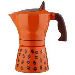 Kawiarka aluminiowa ciśnieniowa GAT SHOW ORANGE - kafetiera na 2 filiżanki espresso