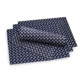 Maty stołowe / Podkładki na stół bawełniane SERDUSZKA CIEMNOSZARE 45 x 35 cm 4 szt.