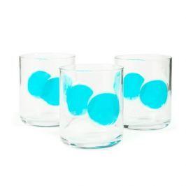 Szklanki do napojów szklane BORMIOLI ROCCO GIOVE NIEBIESKIE 310 ml 3 szt.