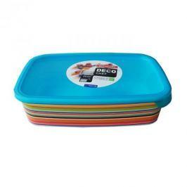 Pojemnik na żywność plastikowy CURVER DECO CHEF PASKI WIELOKOLOROWY 1 l