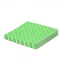 Serwetki dekoracyjne papierowe PAW DOTS ZIELONE 20 szt.