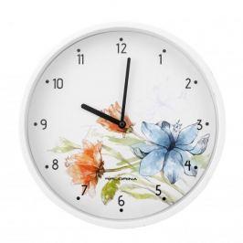 Zegar ścienny plastikowy FLORINA FLORIS BIAŁY 25 cm