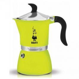 Kawiarka aluminiowa ciśnieniowa BIALETTI FIAMMETTA ŻÓŁTA - kafetiera na 3 filiżanki espresso