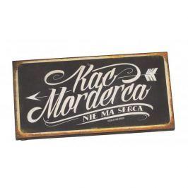 Tabliczka z napisem dekoracyjna drewniana PAN DRAGON KAC MORDERCA