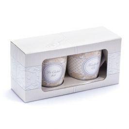 Kubeki ceramiczne KOCHAM CIĘ  BIAŁE 250 ml