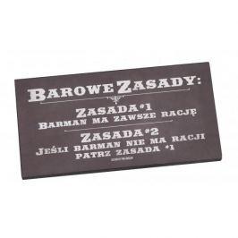 Tabliczka z napisem dekoracyjna drewniana PAN DRAGON BAROWE ZASADY