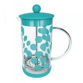French press / Zaparzacz do kawy tłokowy szklany ZAK DESIGNS DOT NIEBIESKI 0,35 l
