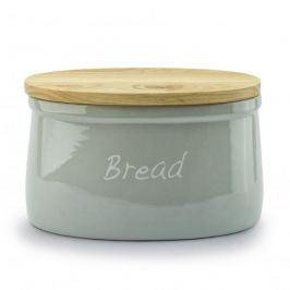 Chlebak ceramiczny z deską do krojenia MONDEX  PASTELS SZARY