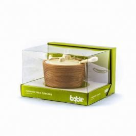 Cukiernica drewniana PRACTIC BĄBLE KREMOWA 250 ml
