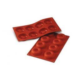 Forma do 8 czekoladek silikonowa SILIKOMART ŚREDNIE OPONKI CZERWONA
