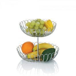 Koszyk na owoce ze stali nierdzewnej KELA PRATO PODWÓJNY 25 cm