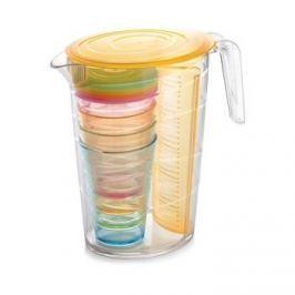 Dzbanek do napojów z wkładem na owoce i kubkami plastikowy TESCOMA MY DRINK POMARAŃCZOWY 2,5 l