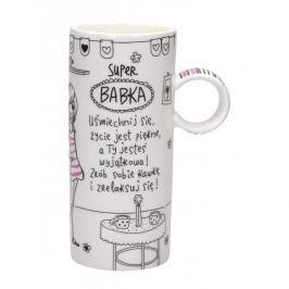 Kubek ceramiczny z napisem PAN DRAGON SLIM SUPER BABKA 400 ml