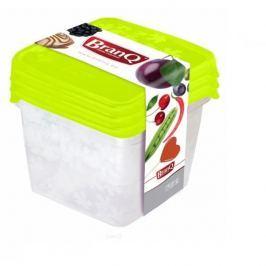 Pojemniki plastikowe na żywność BRANQ RUKKOLA KWADRAT MIX KOLORÓW 3 szt.