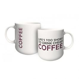 Kubek porcelanowy z napisem AMBITION FEELINGS COFFEE 460 ml