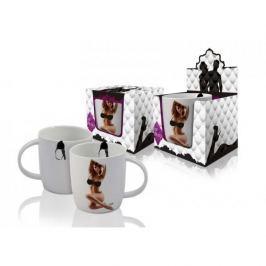 Kubek magiczny ceramiczny VIP STRIP WOMEN RED 400 ml