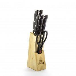 Noże kuchenne ze stali nierdzewnej w bloku KINGHOFF KITCHEN 6 szt.