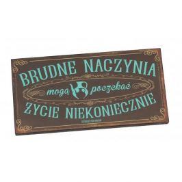 Tabliczka z napisem dekoracyjna drewniana PAN DRAGON BRUDNE NACZYNIA