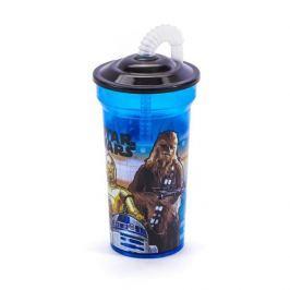 Kubek plastikowy z rurką DISNEY STAR WARS DARK VADER NIEBIESKI 350 ml