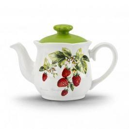 Dzbanek do herbaty i kawy ceramiczny FLORINA GARDEN BIAŁY 0,3 l