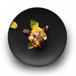 Talerz obiadowy płytki porcelanowy REVOL EQUINOXE CZARNY 24 cm