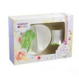 Naczynia dla dzieci plastikowe MASTRAD BABY ZIELONY 4 szt.