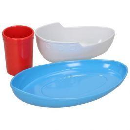Naczynia dla dzieci plastikowe FRED AND FRIENDS STATEK 3 szt.
