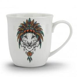 Kubek ceramiczny BOHO LION BIAŁY 600 ml