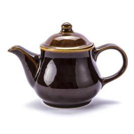 Dzbanek do herbaty i kawy kamionkowy KRYSTYNKA ATENA BRĄZOWY 1 l