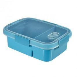 Pojemnik na żywność z przegrodami plastikowy CURVER SMART TO GO NIEBIESKI 0,9 l