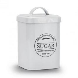 Pojemnik na cukier metalowy COTTAGE BIAŁY 1 l