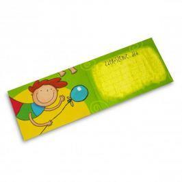 Zaproszenia na urodziny dla dzieci z kopertami PAN DRAGON BROKACIK 10 szt.