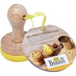 Stempel do ciastek drewniany mini BIRKMANN UŚMIECH