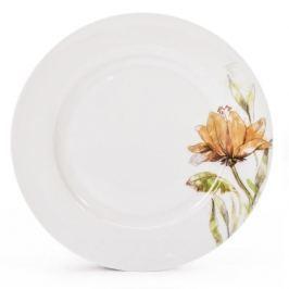Talerz obiadowy płytki porcelanowy FLORINA FLORIS BIAŁY 27 cm