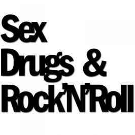 Napis na ścianę dekoracyjny DEKOSIGN SEX DRUGS AND ROCKNROLL